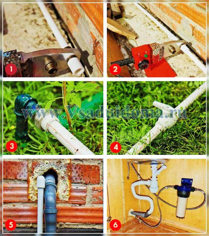 как провести воду на дачу - летний водопровод