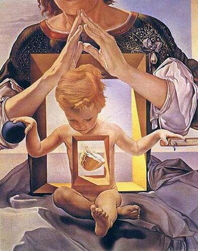 Сальвадор Дали. Мадонна порта Льигат. ( фрагмент ) 1949 год..jpg