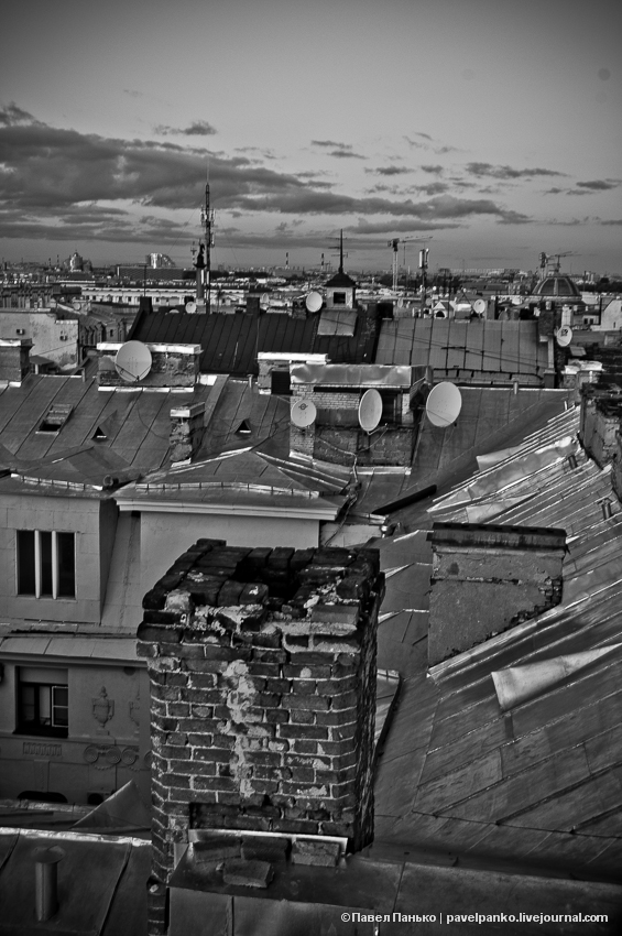 панько pavelpanko Питер Петербург город крыша
