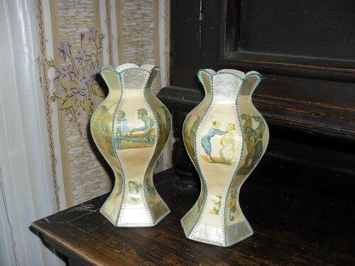 Шаблоны вазы из открыток своими руками
