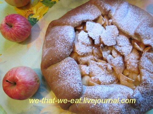 Постный яблочный пирог