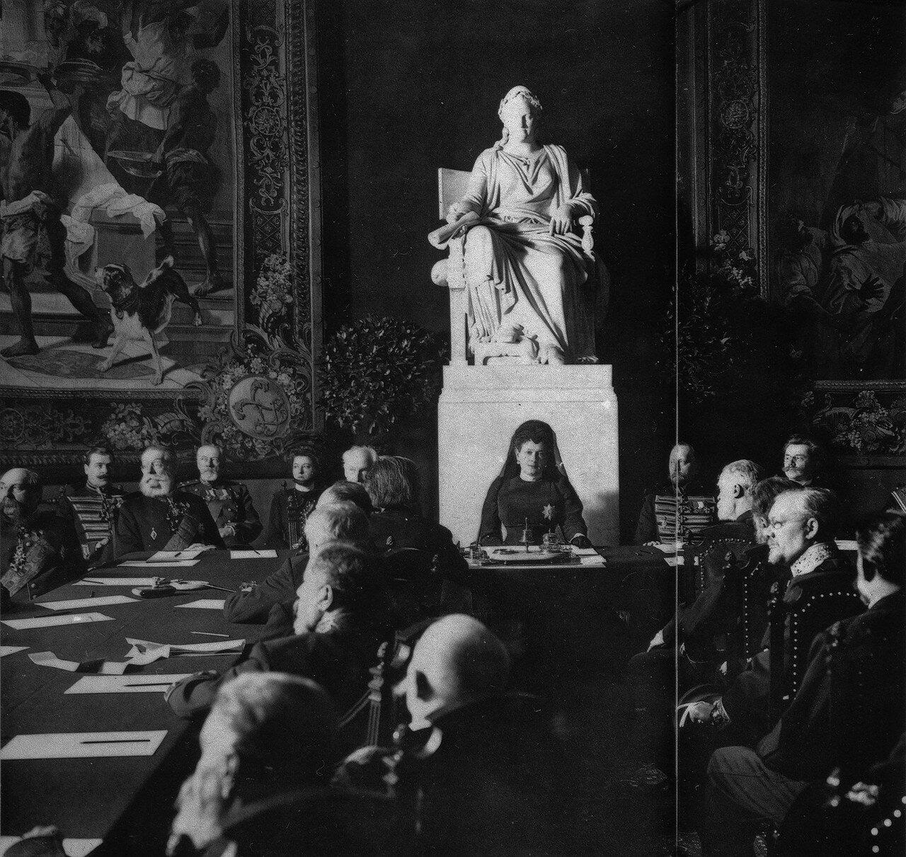 Встреча профессоров Академии искусств с Марией Павловной. 1909