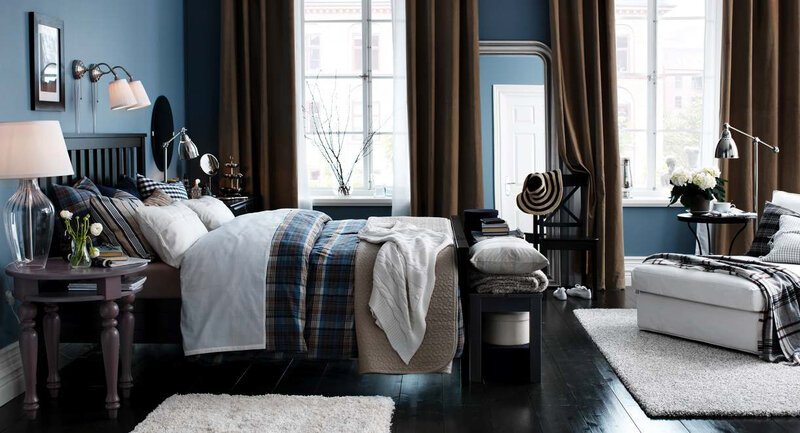 Blue and beige bedroom ideas