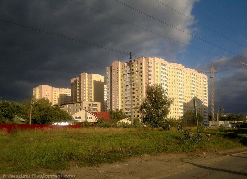 Фрязино, дома на улице Горького.