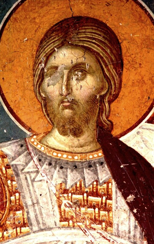 Святой Великомученик Никита. Фреска церкви Св. Никиты в Чучере, Македония. Около 1316 года. Иконописцы Михаил Астрапа и Евтихий.