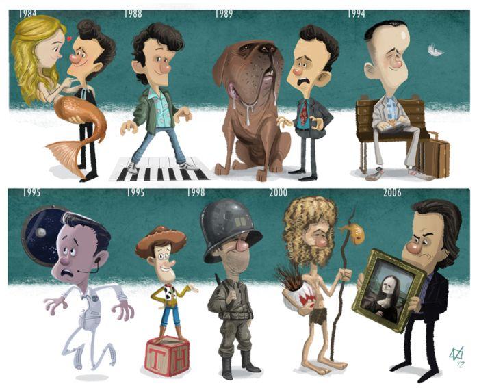 Карикатуры звёзд