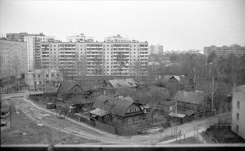 1980-е, г.Бабушкин, вид на Норильскую улицу
