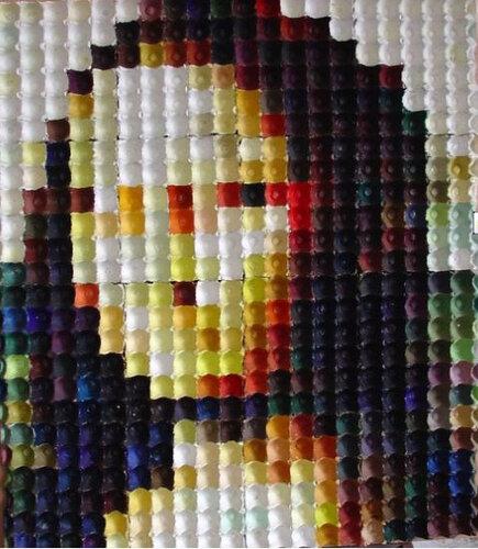 Мона Лиза из яичных лотков