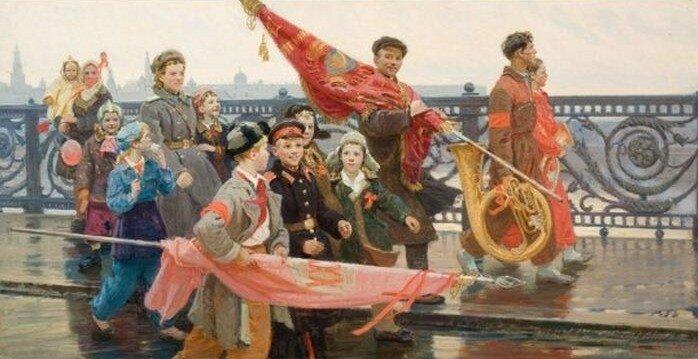 Дмитрий Мочальский. После демонстрации. 1949