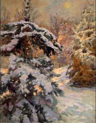 Богданов-Бельский. Вечерний снег. 1935