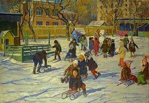 В. Шепетовский. В детском саду. 1976