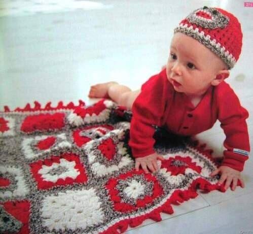 Вязаная детская одежда, головные уборы, пледы и одеяла ручной работы.