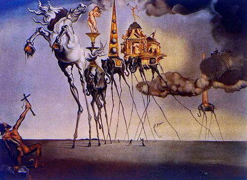 Сальвадор Дали. Искушение Святого Антония. 1946..jpg