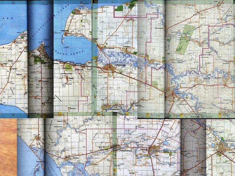 Карта Староминского района