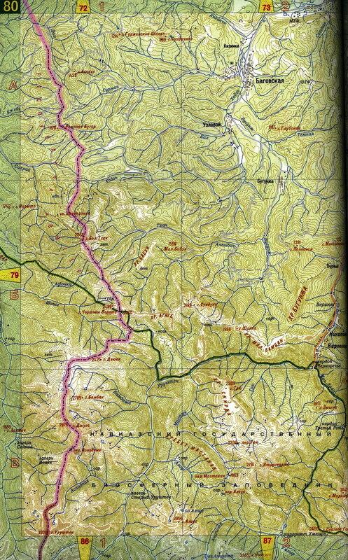 Тхач, Большой Тхач, карта