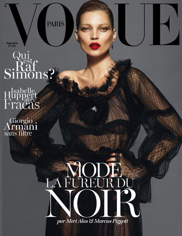 Kate Moss / Кейт Мосс на обложке журнала Vogue Paris, сентябрь 2012 / фотографы Mert and Marcus