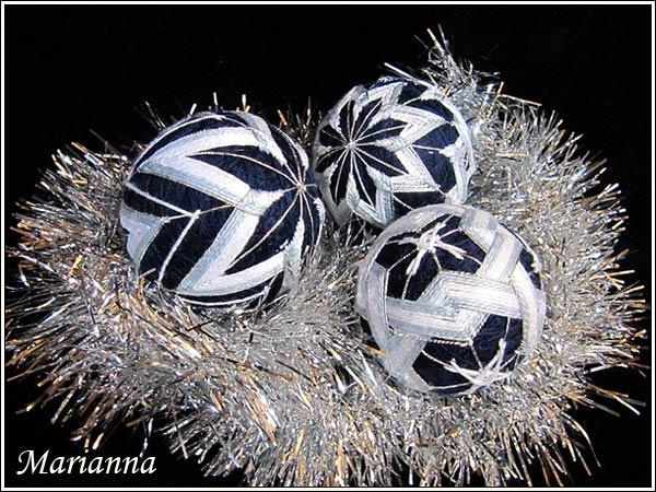 Набор Снежинки - три шарика