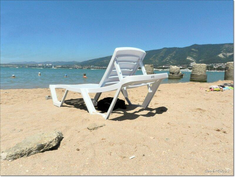 Свое место на пляже.