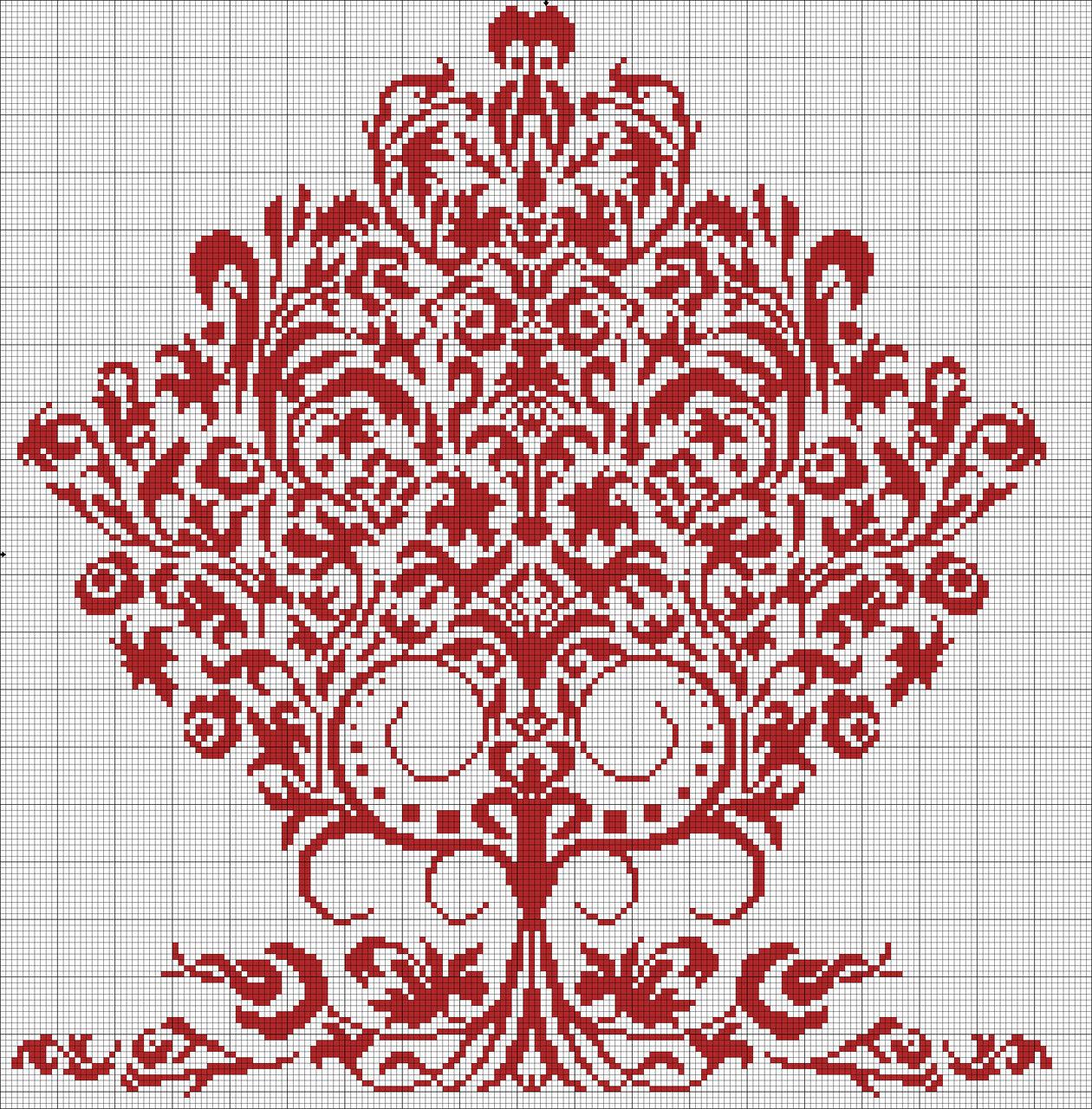 Для просмотра и распечатывания этих схем скачайте и установите программа +для вышивки.  1 цветов.  Использовано.