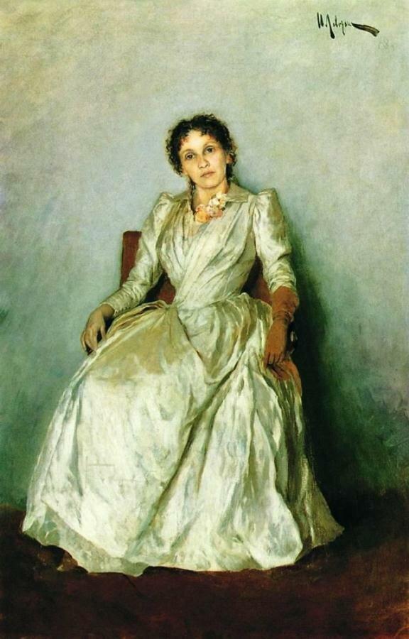 Портрет Софьи Петровны Кувшинниковой,1888, Левитан И.И, Музей-квартира И. И. Бродского