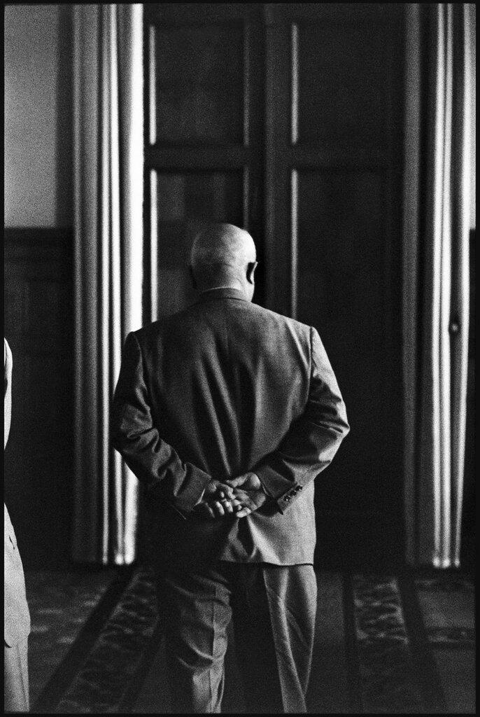 July, 1959. Soviet Premier Nikita KHRUSHCHEV in the Kremlin conference waiting room waiting for the arrival of US Vice President Richard Nixon.jpg