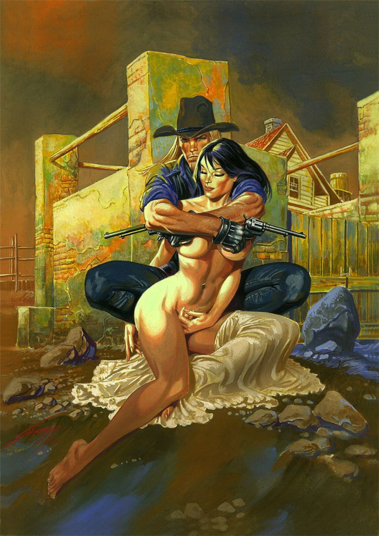 Горячие женщины - Рисунки художника Рафаэля Галлура / Rafael Gallur pictures - Over My Dead Body