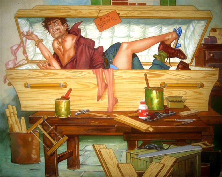 Горячие женщины - Рисунки художника Рафаэля Галлура / Rafael Gallur pictures - More Alive than Dead