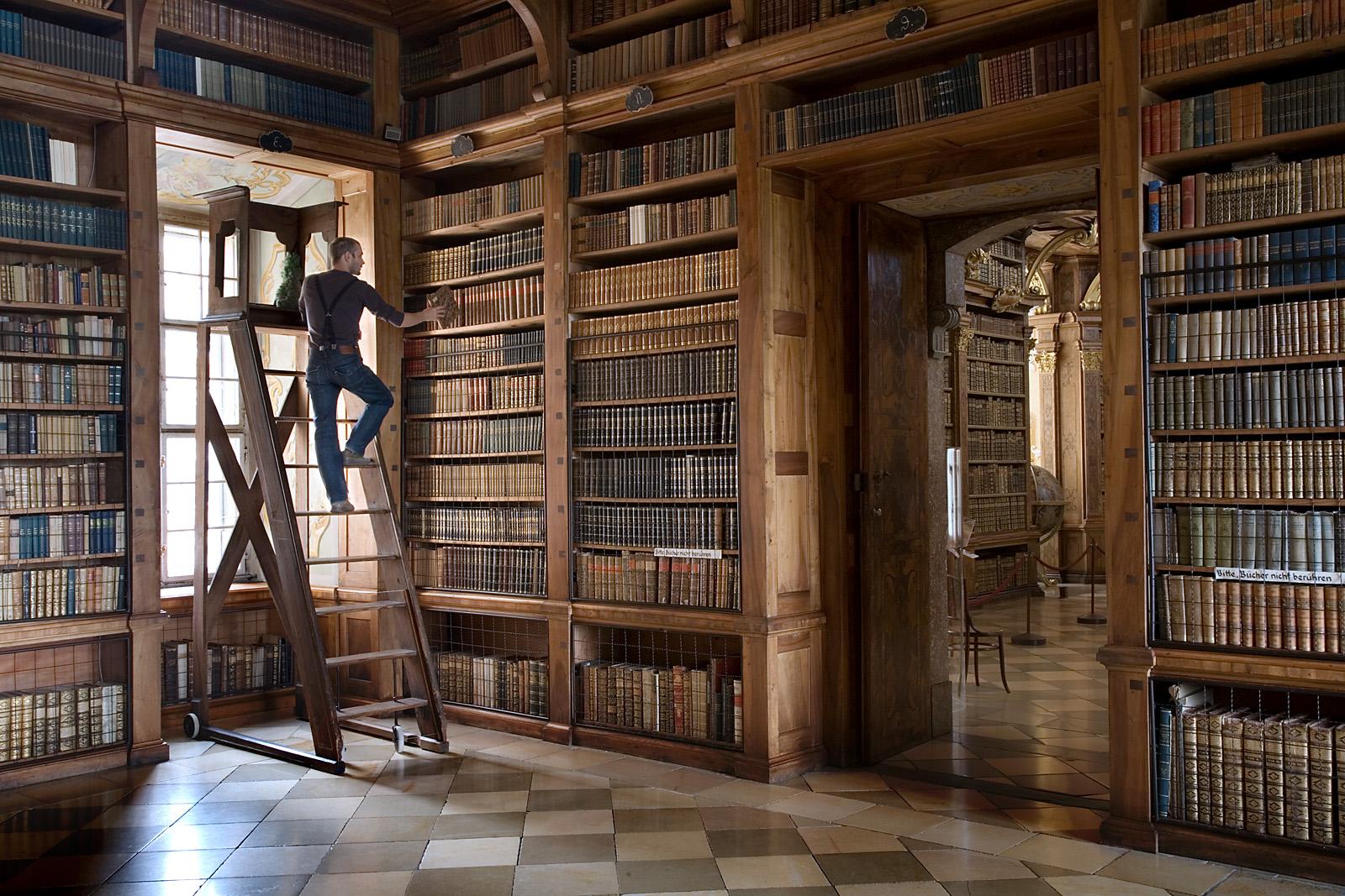 Austria - Melk Abbey Library