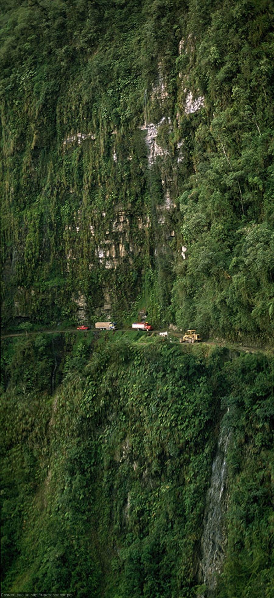 Дорога смерти в Боливии. (фотографии потрясающие)