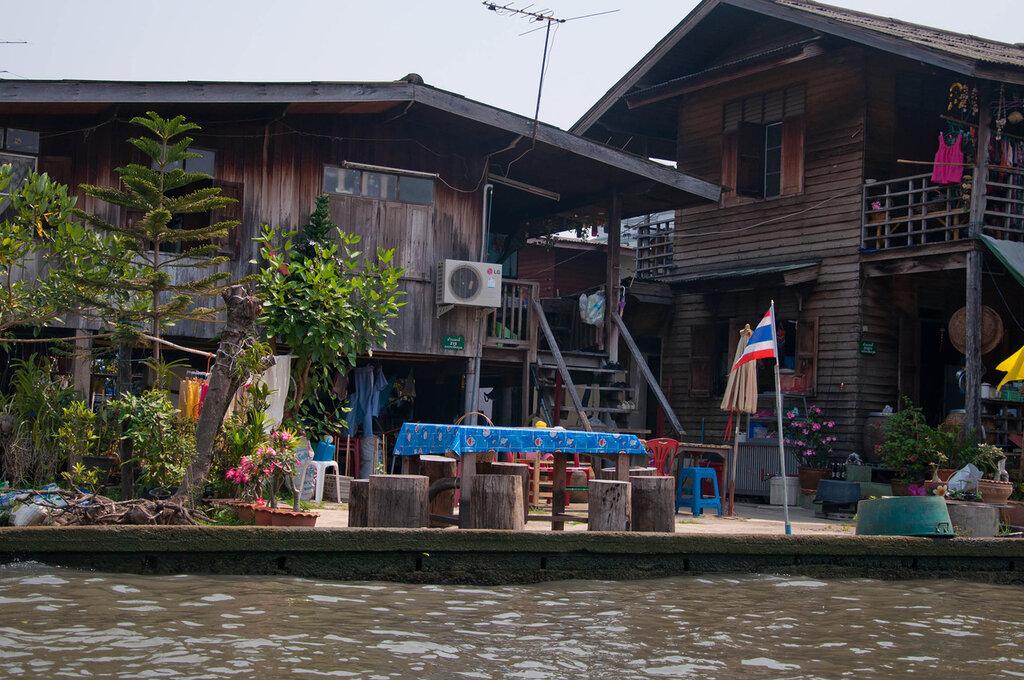 Бангкок, Каналы, дома на воде