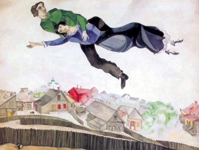 Над городом, 1918г. Белла была красива, могла стать талантливой писательницей или актрисой, нопред