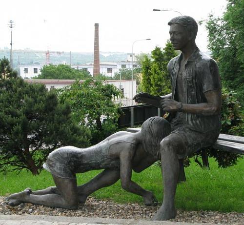 Памятник проститутке (Лавочка порока). Прага, Чехия