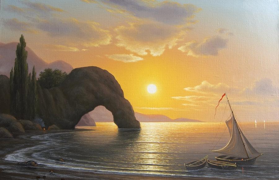 Морские пейзажи леонида тчанникова