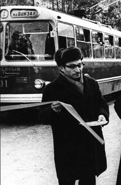Открытие троллейбусного сообщения, 1967 г., фото из коллекции А.Лимарова
