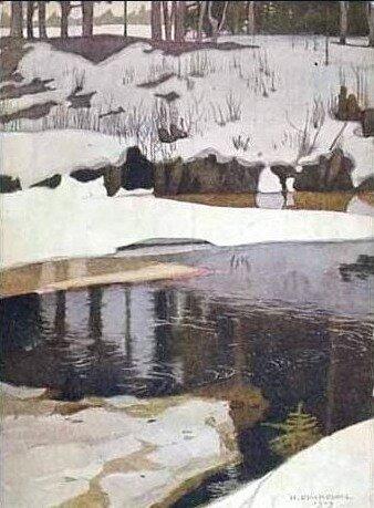 И. Билибин. Весна. 1900