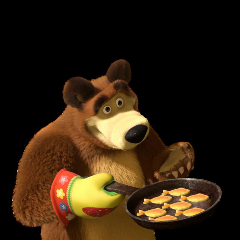 говоря, картинки маша и медведь с едой может