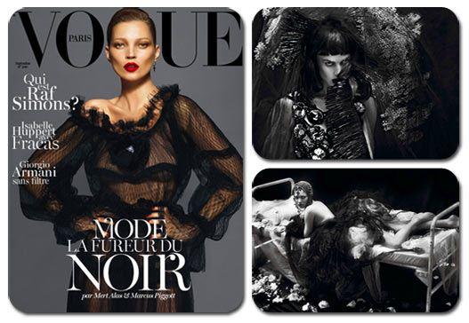 Kate Moss and Saskia De Brauw / Кейт Мосс и Саски де Броу в журнале Vogue Paris, сентябрь 2012 / фотографы Mert and Marcus