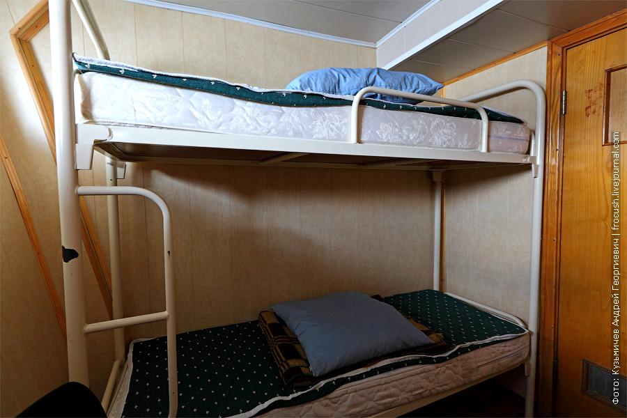 Двухместная двухъярусная каюта №124 на нижней палубе. теплоход Г.В.Плеханов