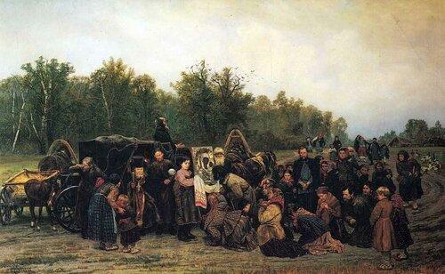 Встреча иконы. 1878, Савицкий, Константин Аполлонович, (1844-1905 гг.)