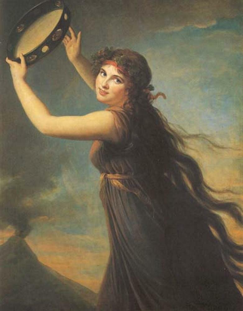 Эмма, Леди Гамильтон в виде Вакханки.(1790-1791),Виже-Лебрён, Мари Элизабет Луиза(1755-1842) Lady Lever Art Gallery, Port Sunlight, UK.