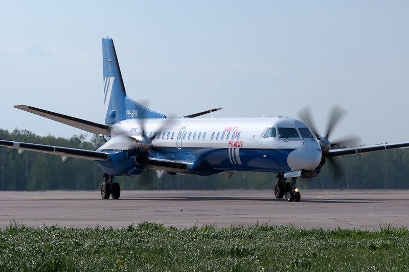 Saab 2000 (VP-BPM) Полет DSC0244
