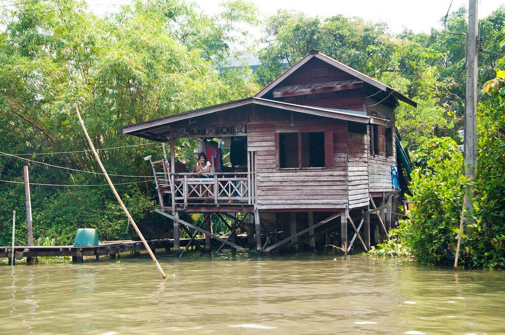 Каналы Бангкока, лачуга на воде