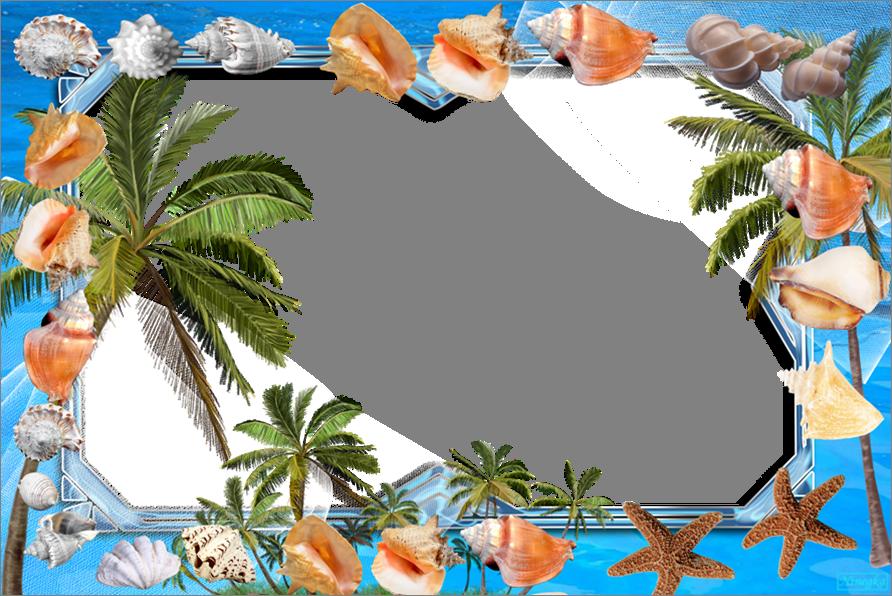 Открытки для фотошопа море, днем рождения