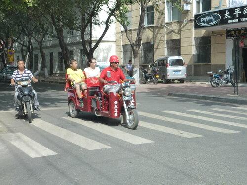моторикша в китайском Хэйхэ фото