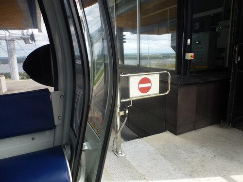 Дверь вагончика канатной дороги Нижний Новгород