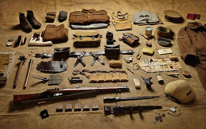 Военный комплект рядового в битве на Сомме, 1916 год.