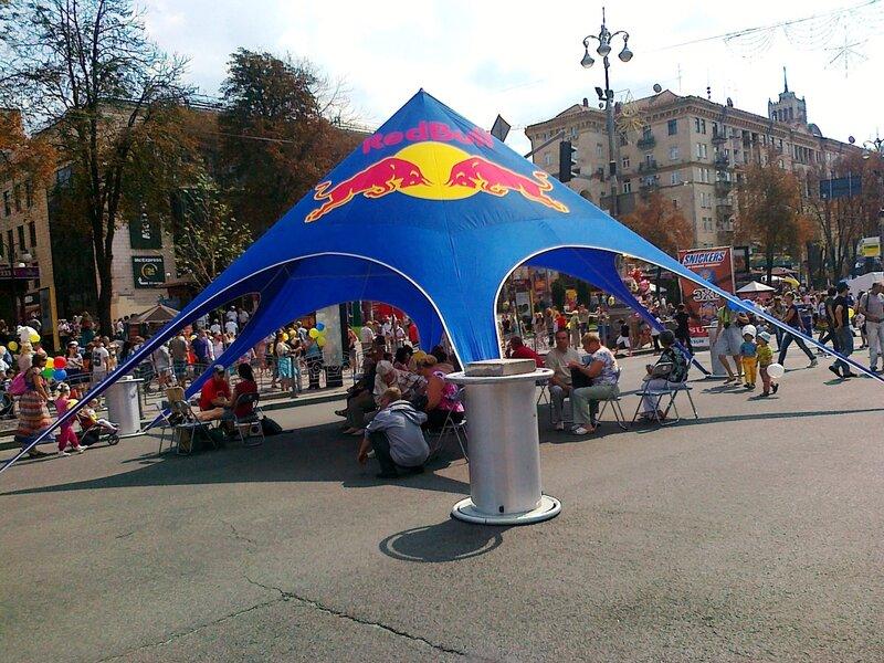 Шатер Red Bull на Крещатике
