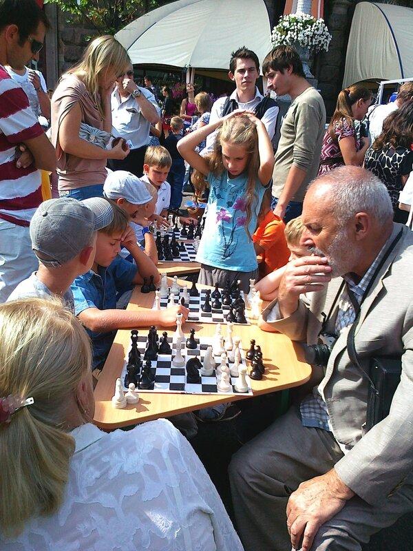 Шашечный турнир на Крещатике