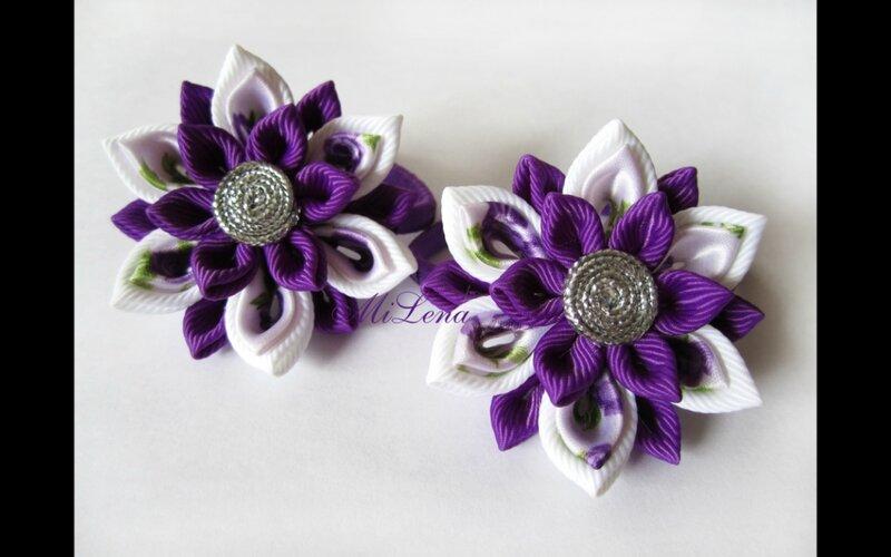 Цветы канзаши, подборка