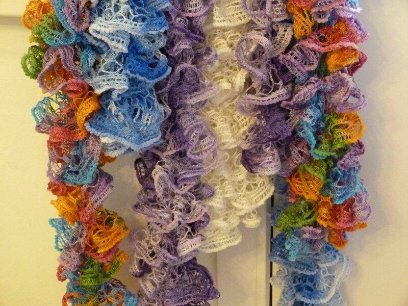 Вязание шарфа из дантеллы